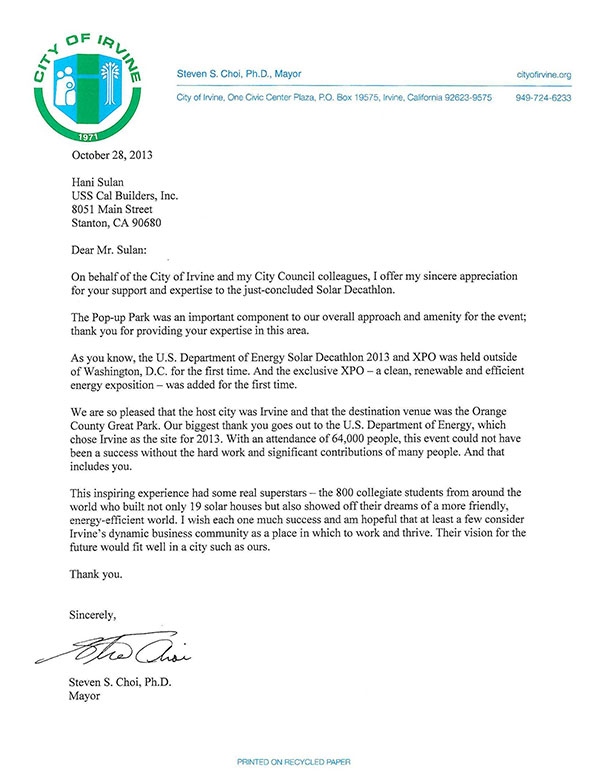 Great Thank You Letter For Recognition Award